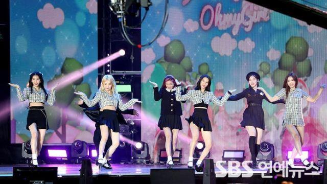 [E포토] 오마이걸, '흥겨운 콘서트 무대'