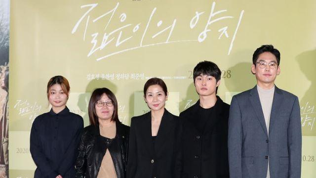 [E포토] 영화 '젊은이의 양지' 감독과 주역들